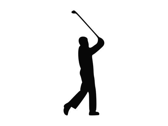 Golfer clipart svg. Golfing golf cut file