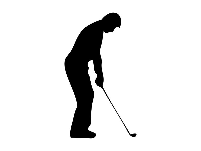 Golfer clipart svg. Golf files golfing vector
