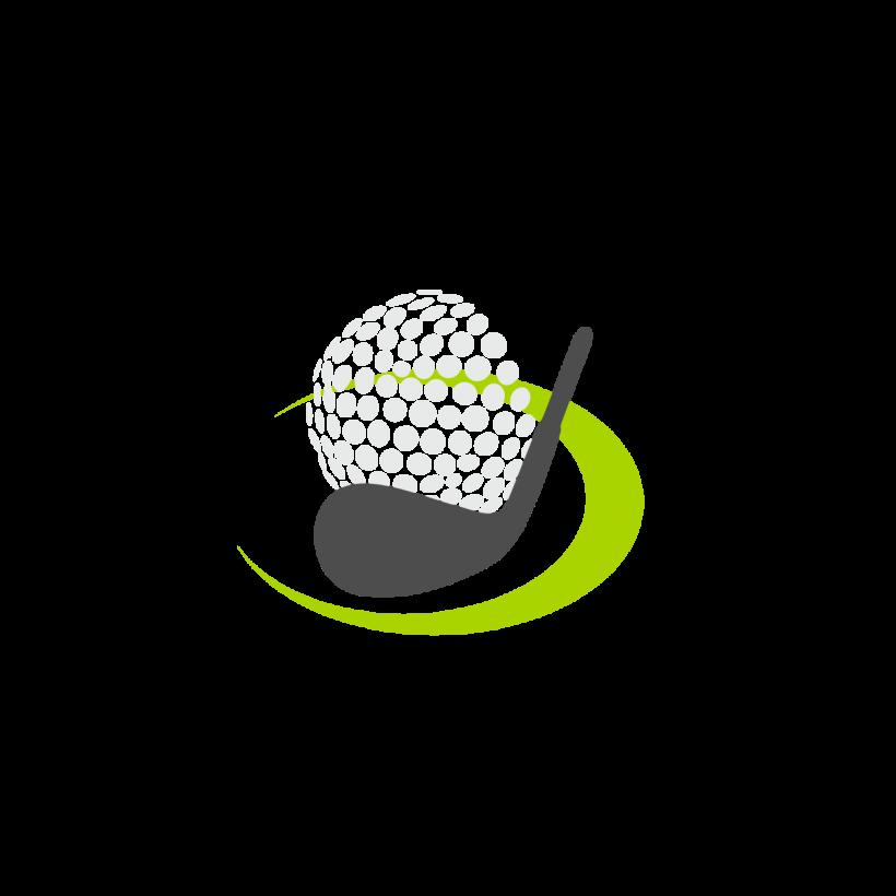 Golfer clipart vector. Golf logo free art