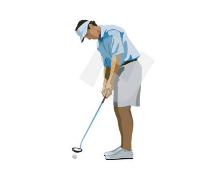 Golf clip art poweredtemplate. Golfer clipart vector
