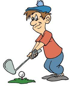 Free cartoon golf clip. Golfing clipart