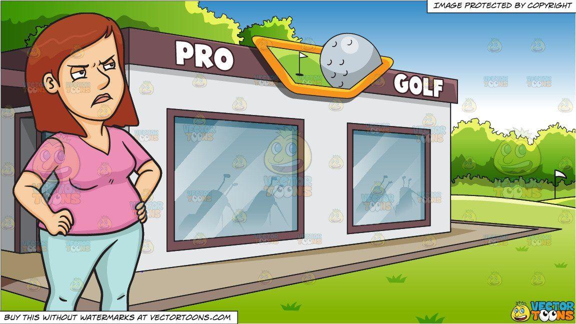 Golfing clipart country club. Cartoon a woman snubbing