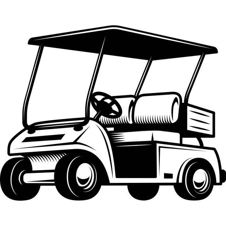 Cart golfer clubs sports. Golfing clipart golf buggy