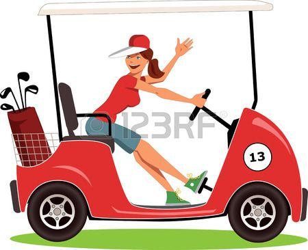 Golfing clipart golf buggy. Stock vector sports carts