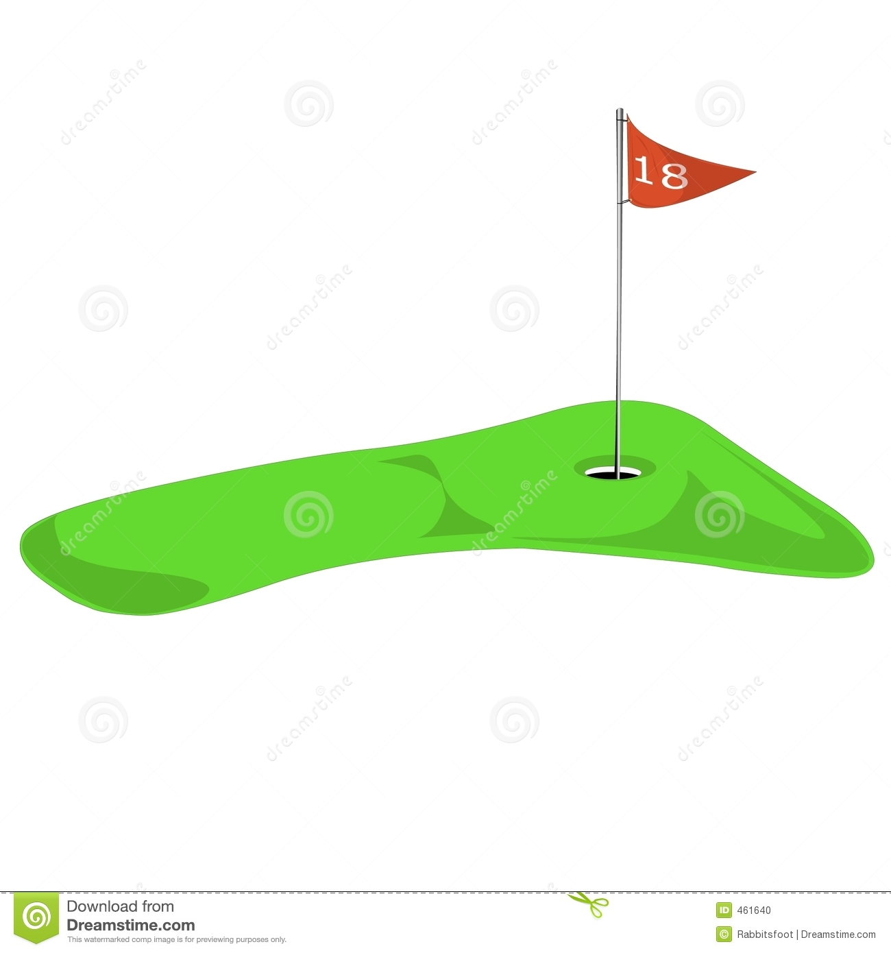 Golf flagstick free download. Hole clipart 18th