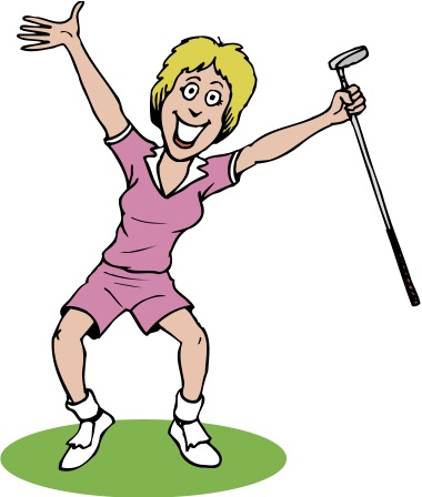 golfing clipart lady