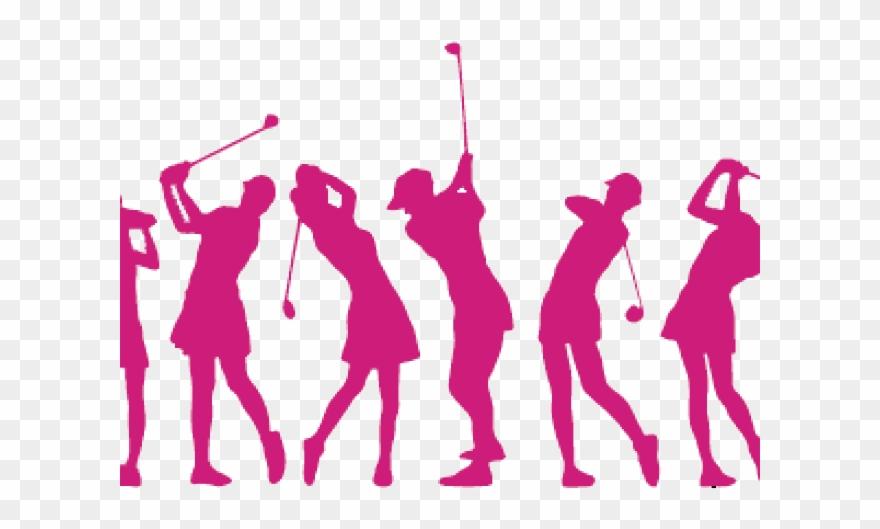 Golfing clipart lady. Ladies golf logo pinclipart