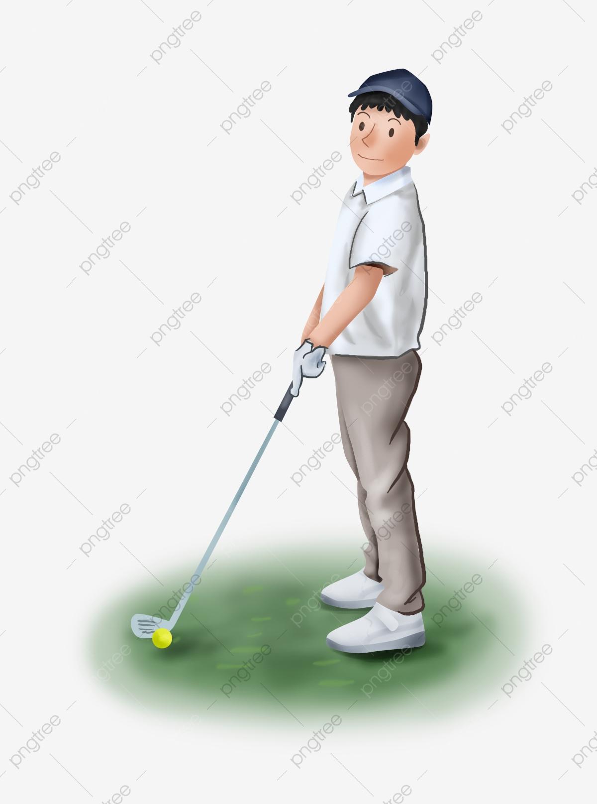 Golf movement png transparent. Golfing clipart male golfer