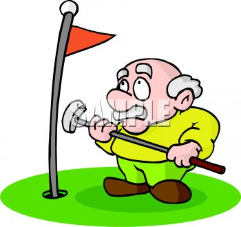 Free download best . Golfing clipart retired man