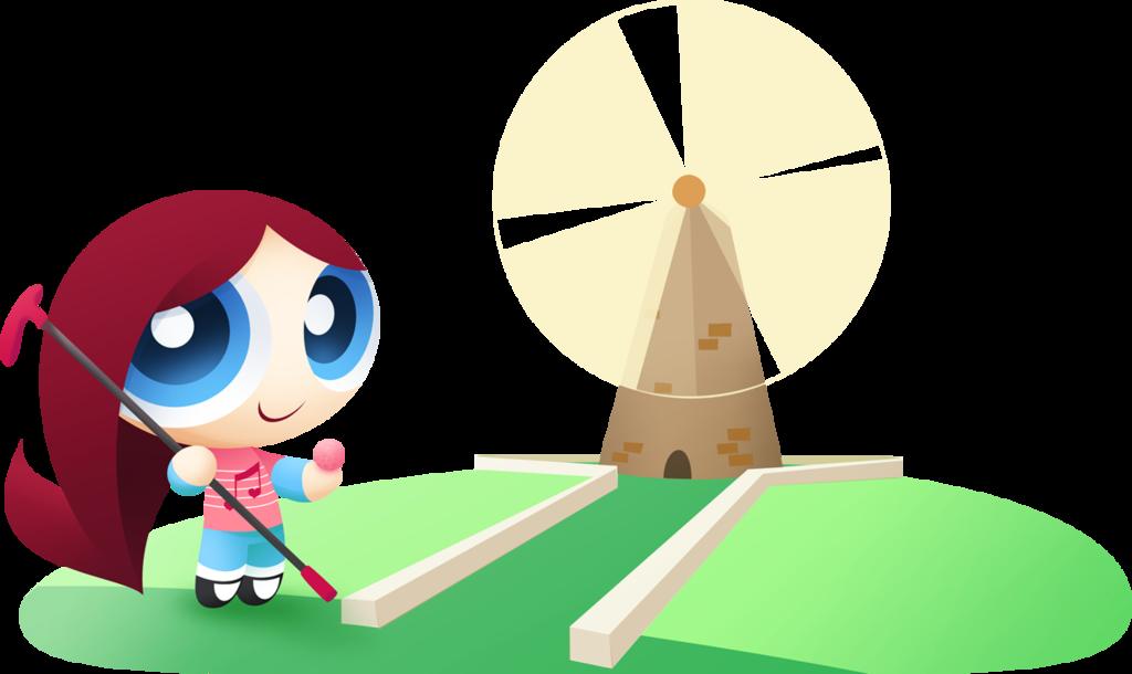 Art trade ballad by. Golfing clipart windmill