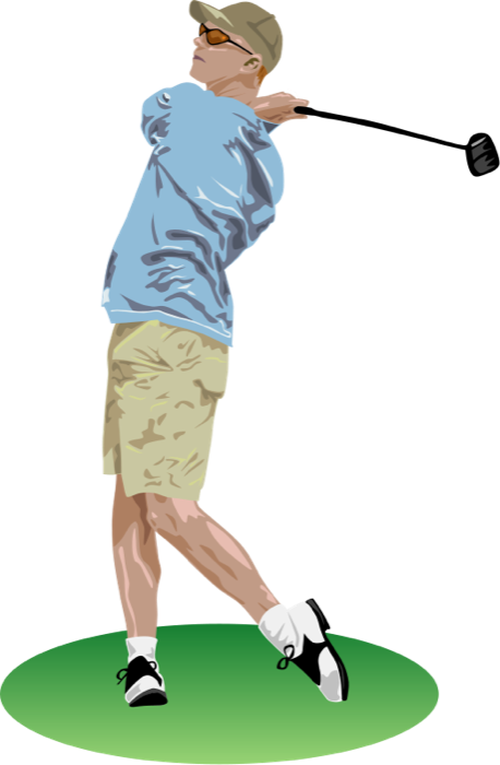Free golf and animations. Golfer clipart