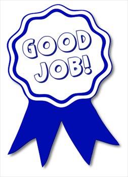 Good clipart. Free job blue ribbon