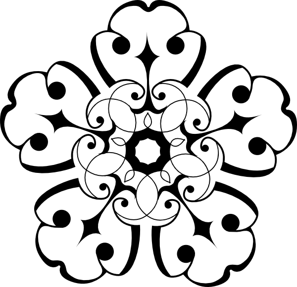 Clipart free download best. Black and white flower png
