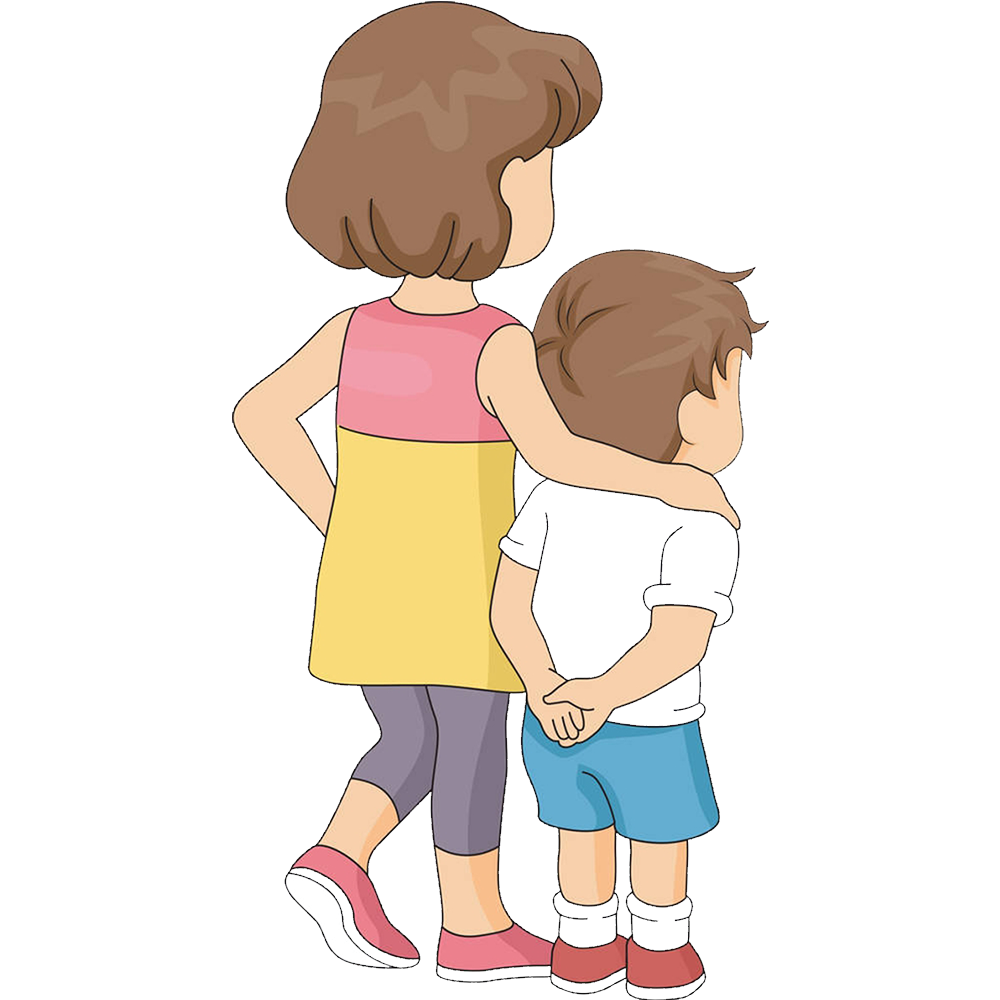Brother drawing clip art. Humans clipart sibling