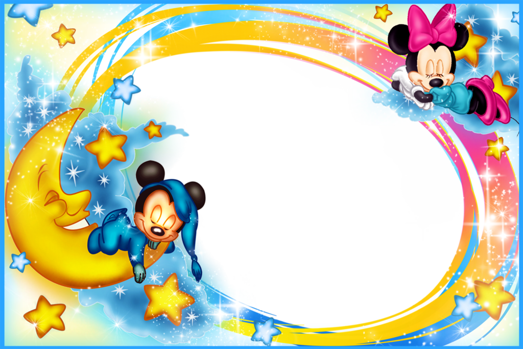 Mickey mouse frame png. Kids transparent photo good