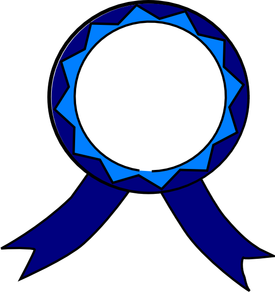 Blue and white clip. Good clipart medal certificate