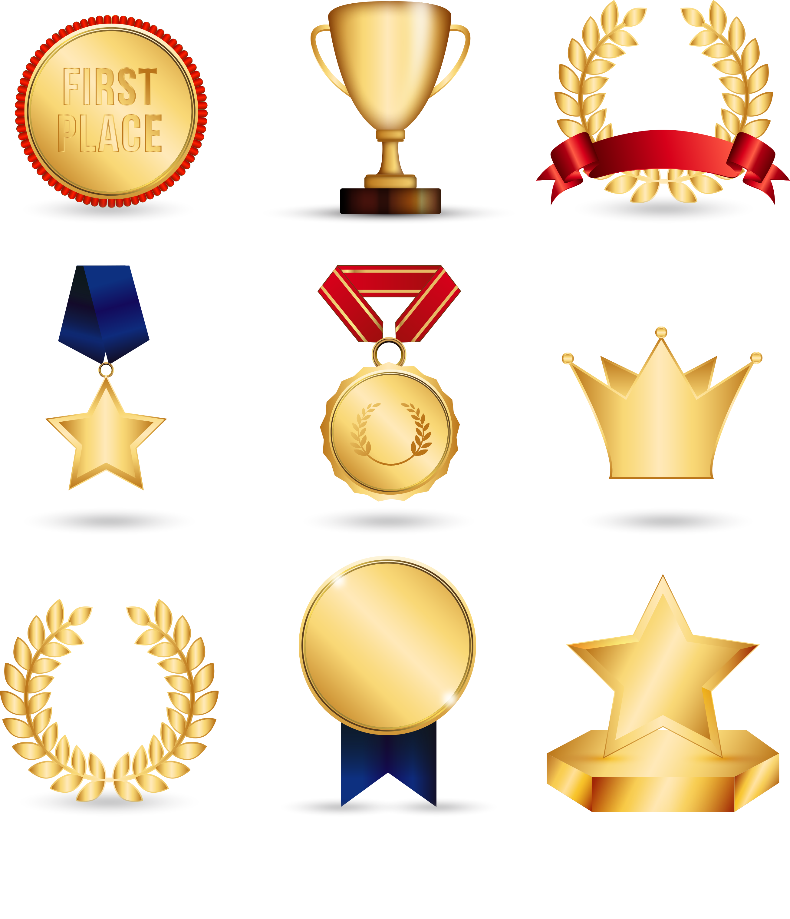 Good clipart medal certificate. Gold trophy clip art