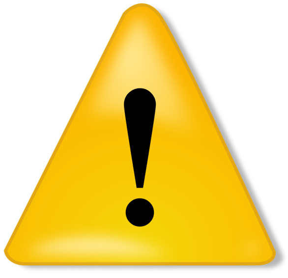 Caution clipart warning triangle. Illustration of a symbol