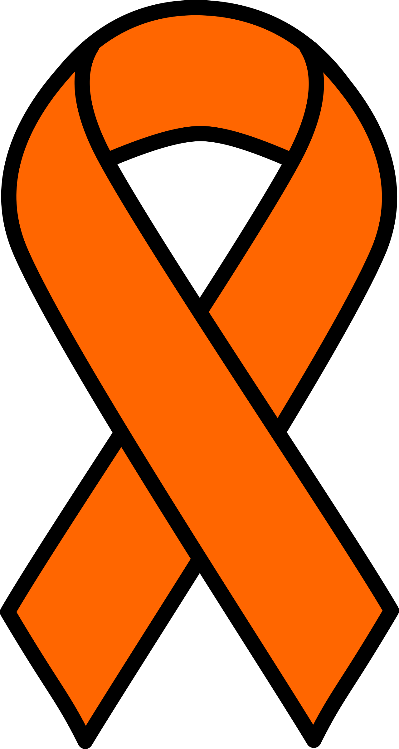 Good looking orange ribbon. Patient clipart cancer patient