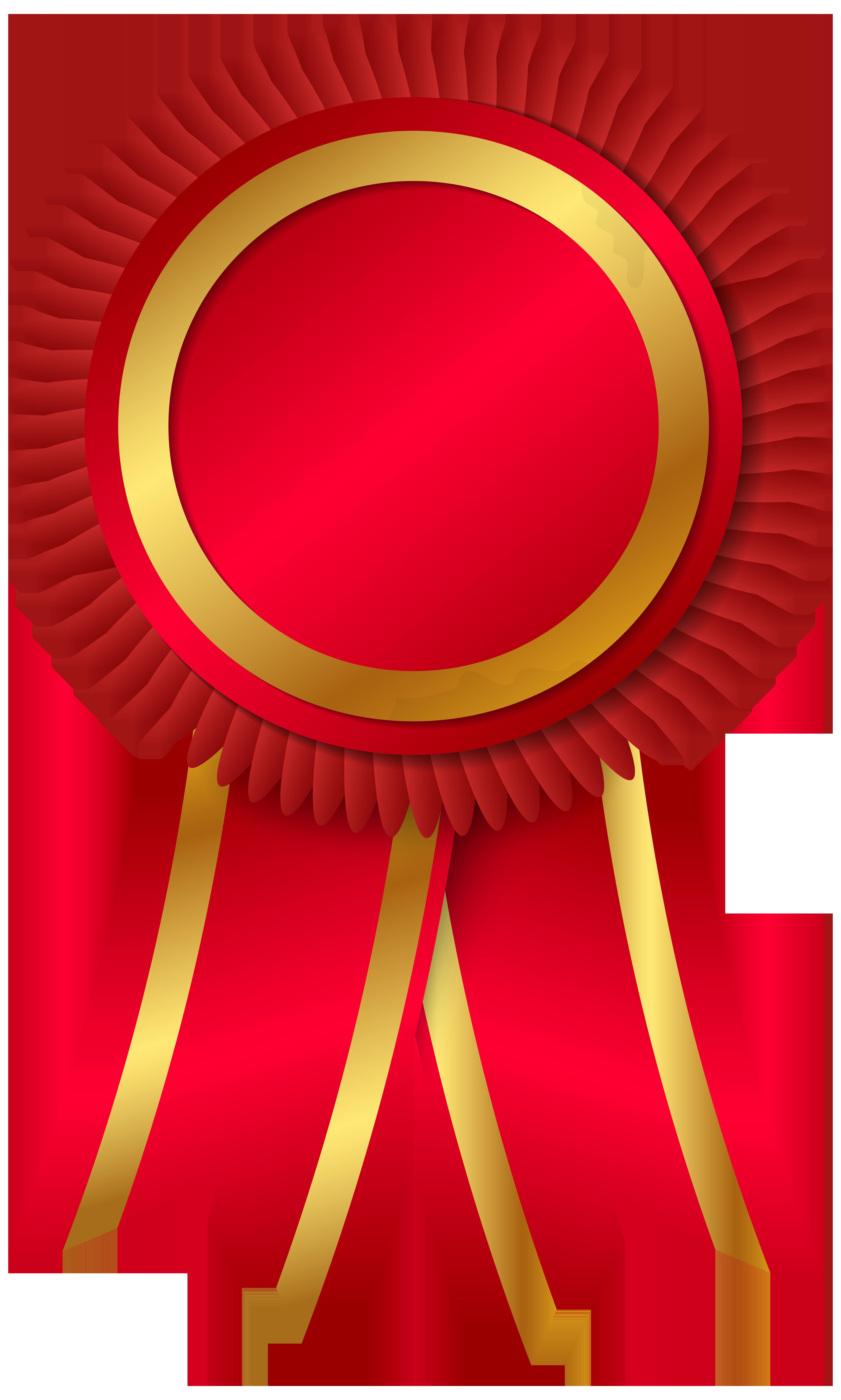 Award rosette png clipar. Medal clipart red