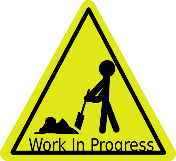 Working clipart work zone. In progress clip art