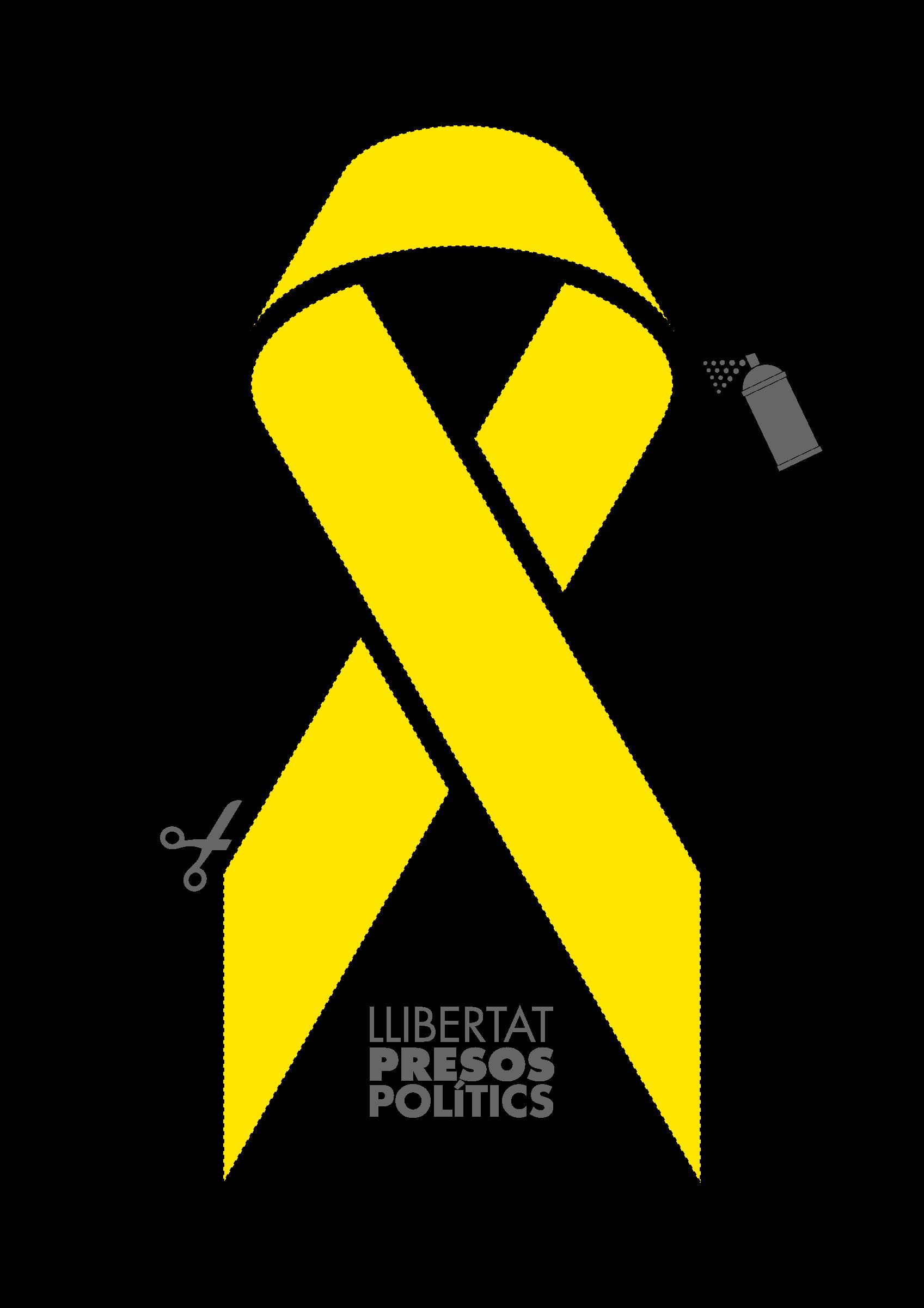 Yellow ribbon stencil big. Politics clipart political freedom