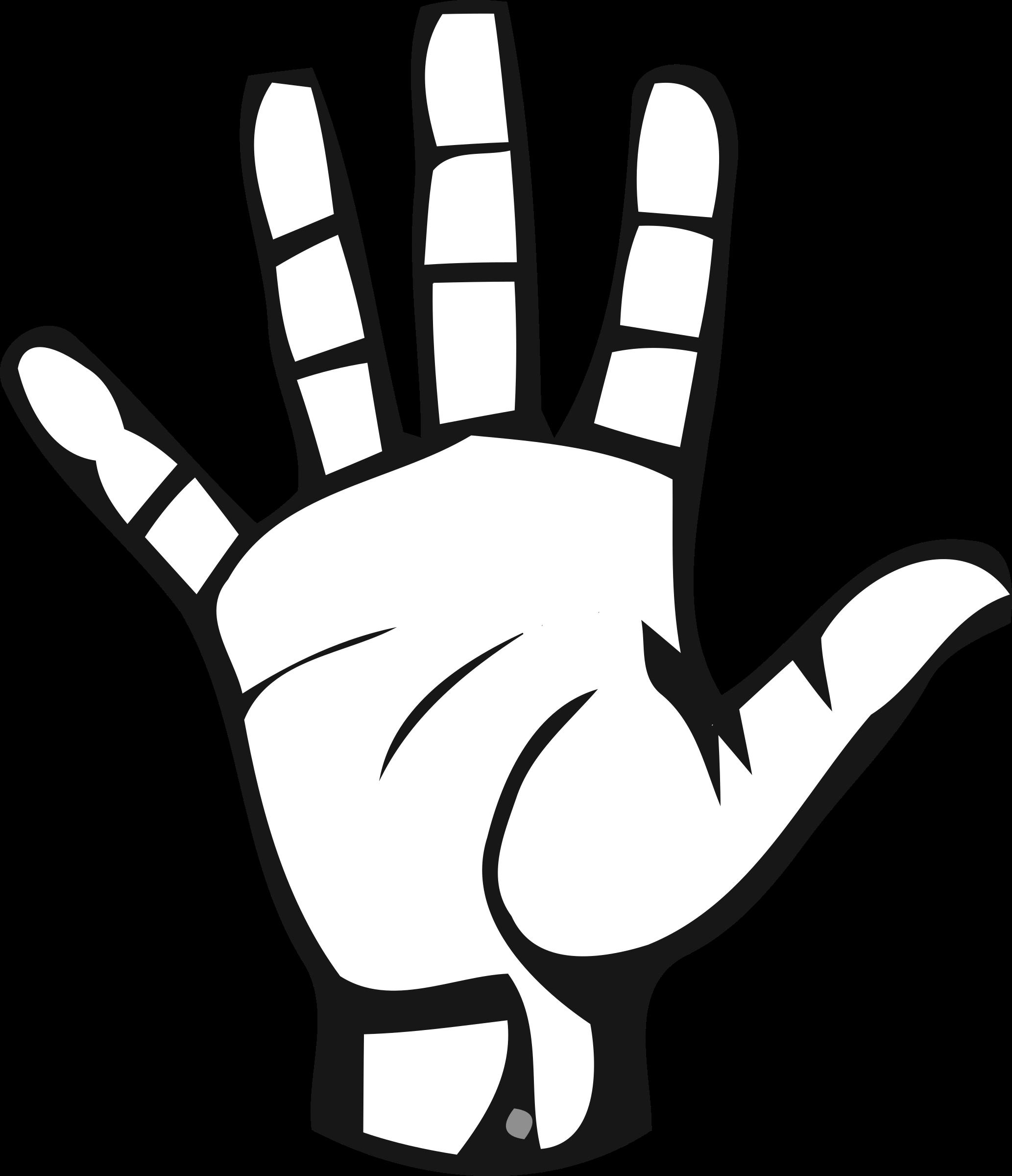 Deaf alphabet big image. Thumb clipart sign language