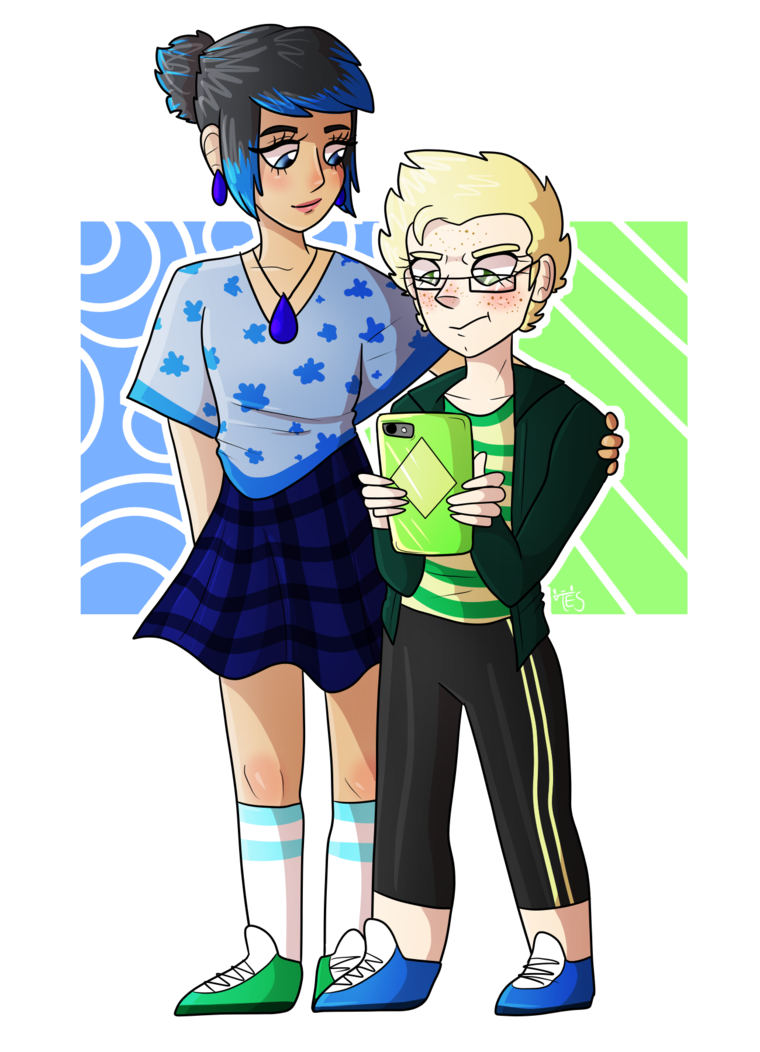 Human clipart few person. Lapis and peridot au