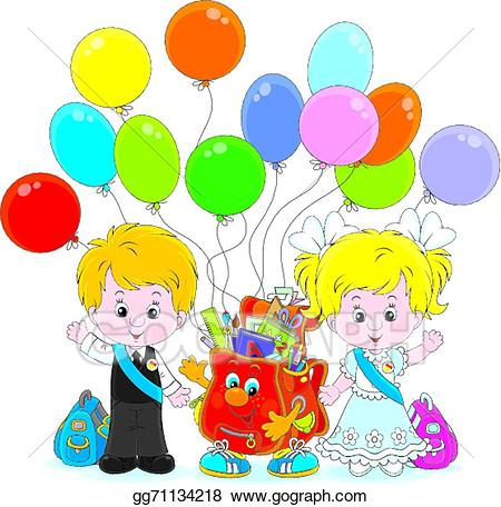 Eps illustration vector . Goodbye clipart kindergarten