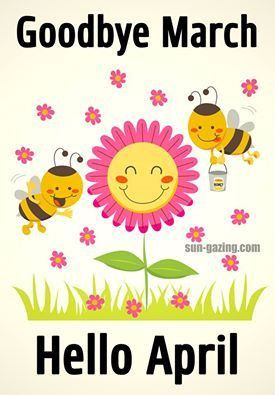 Goodbye march images . Hello clipart april