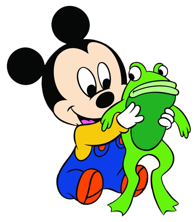 Mickey w frog clips. Goofy clipart baby