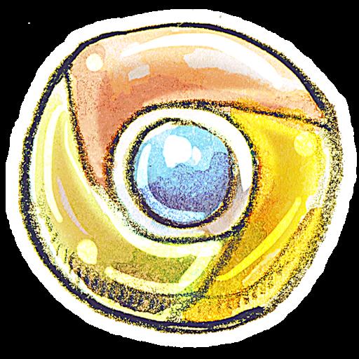 Google chrome icon png. Crayon clipart image iconbug