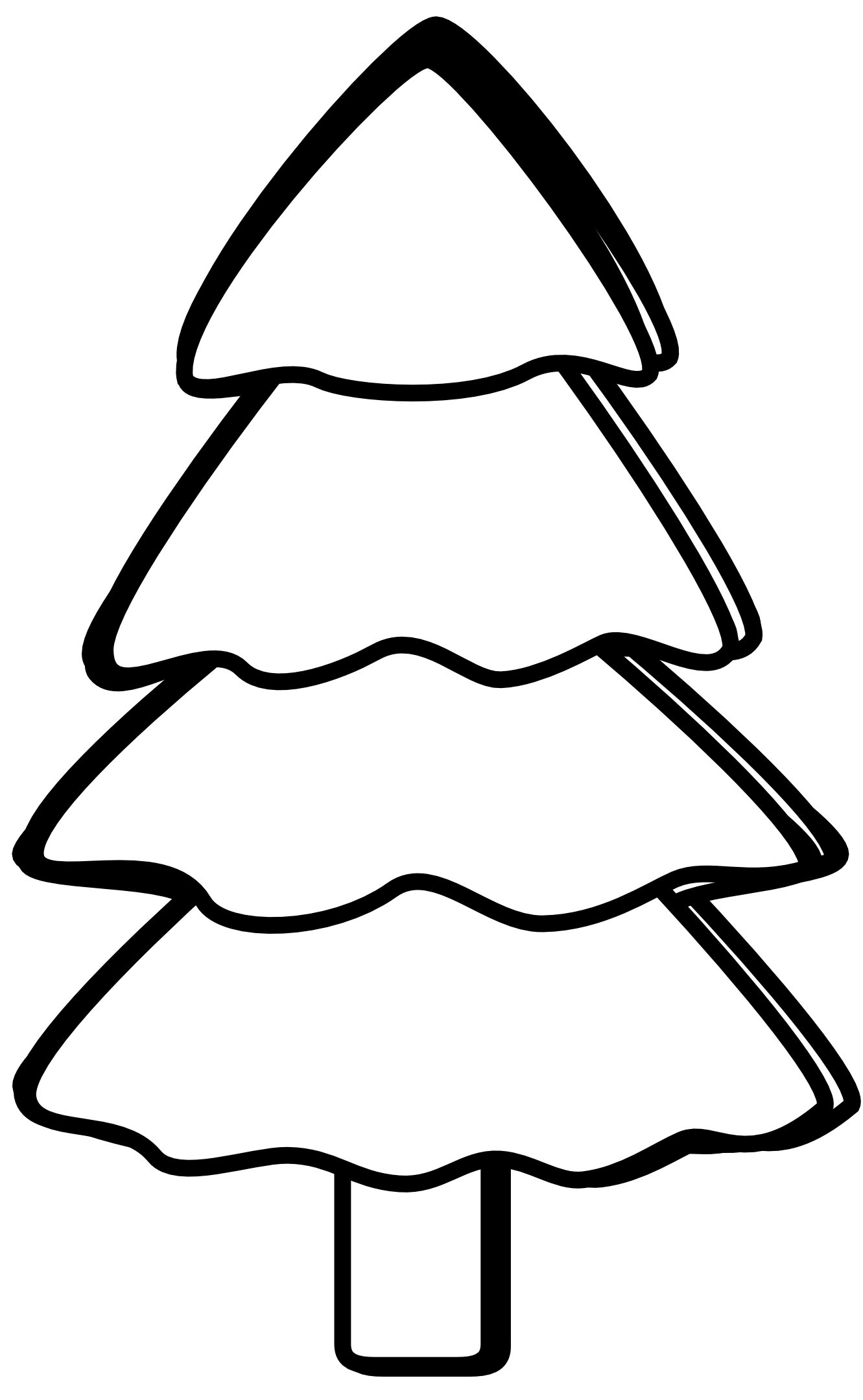 Google clipart black and white. Christmas tree clip art