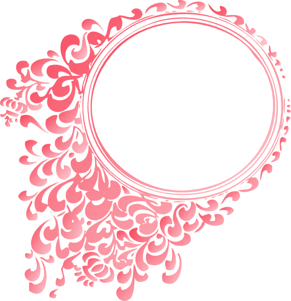 Pink linear gradient clip. Round border png
