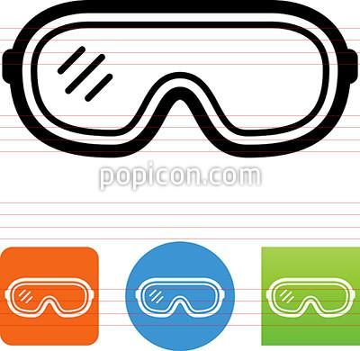 Icon . Google clipart safety goggles