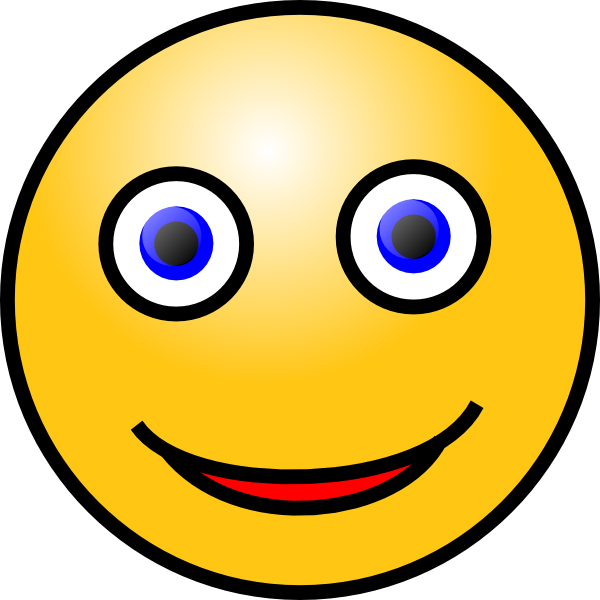 Animated faces laughing search. Google clipart smiley face