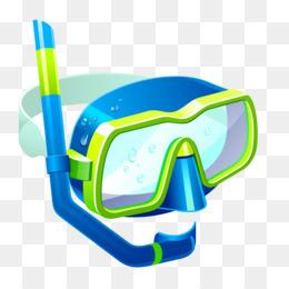 Scuba diving png cartoon. Google clipart snorkeling goggles