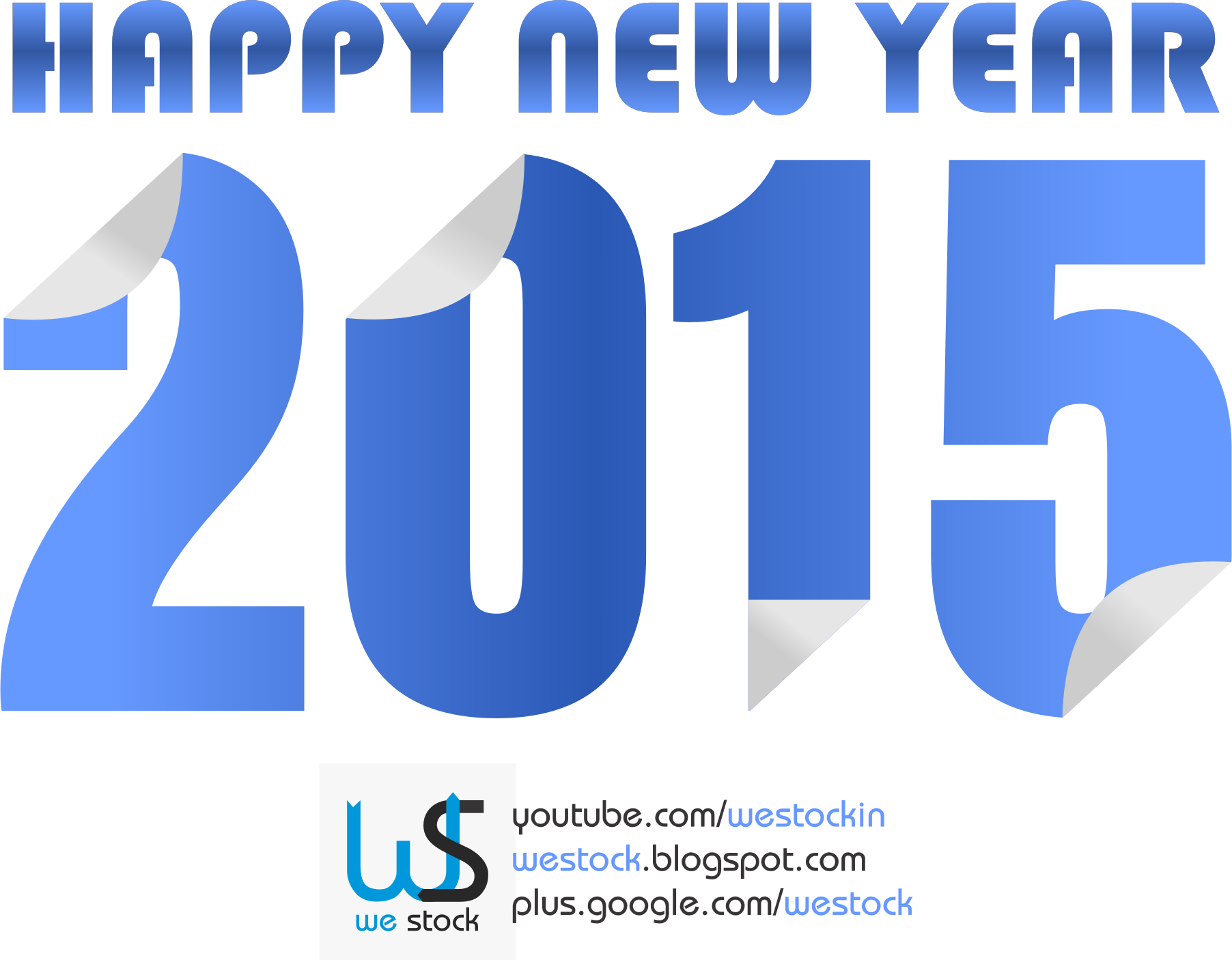 New year colored sticky. Youtube clipart blue