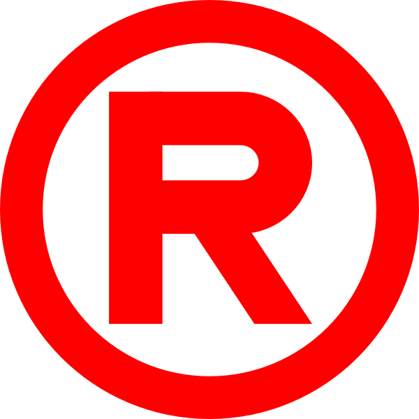 Red sign pinterest clip. R clipart trademark