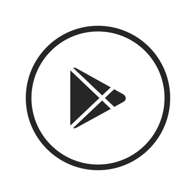 Google black and vector. Play icon png