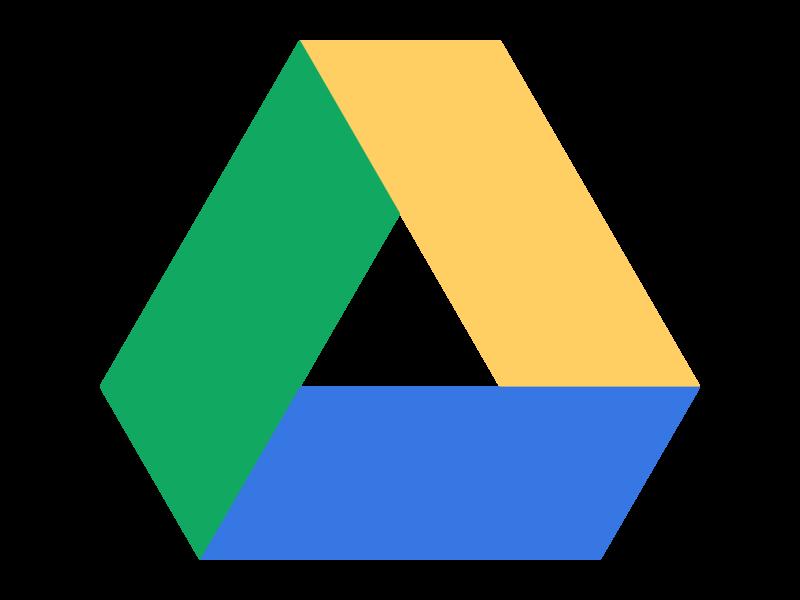 Google drive png. Logo transparent svg vector