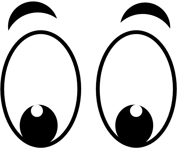 Eyes clipart.  looking down royalty