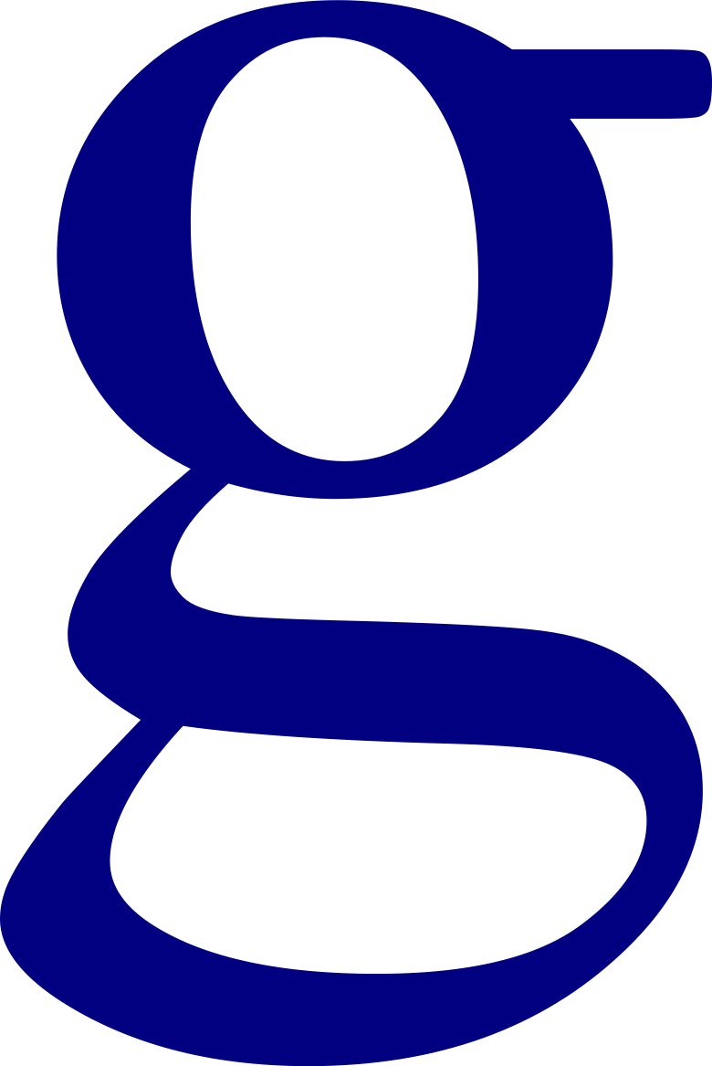File lowercase letter wikipedia. Google g png