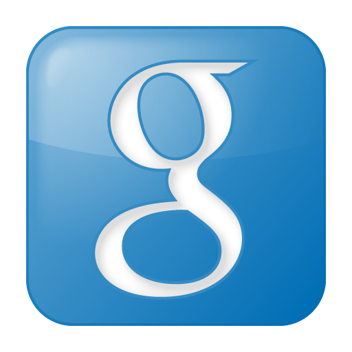 Blue box social download. Google icon png