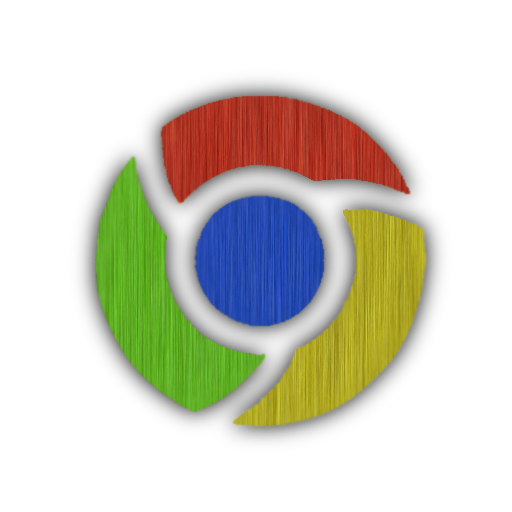Google icons png. Chrome brushed icon by