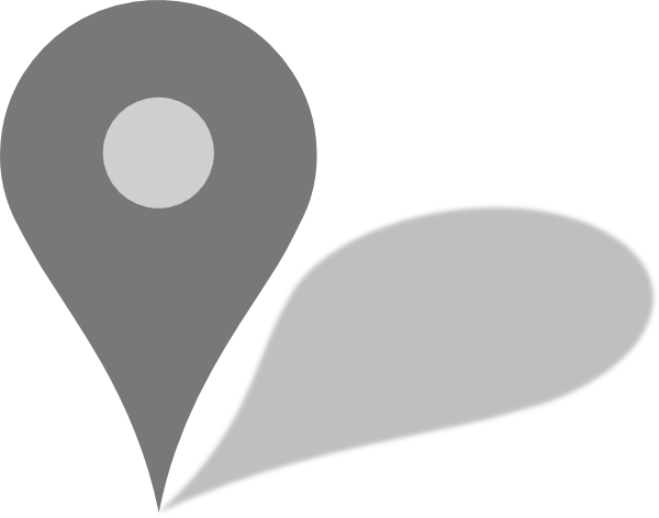 Google map pin png. Maps grey marker w
