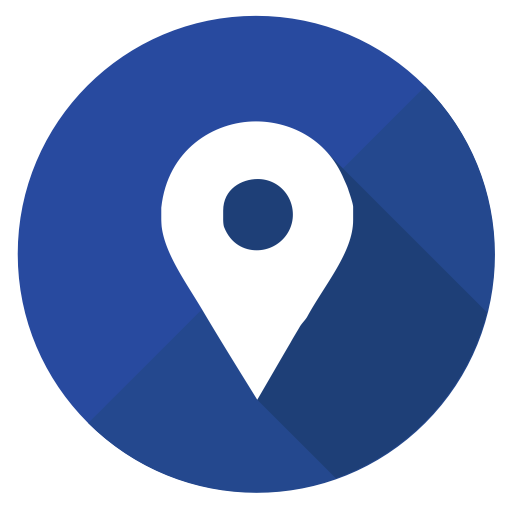 Social media pointer icon. Google maps icons png