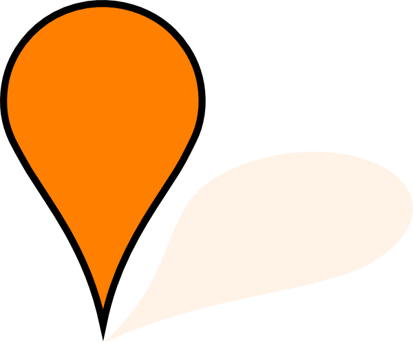 Orange clip art at. Google maps pin png