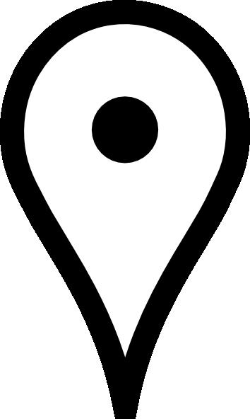 White map clip art. Google pin png