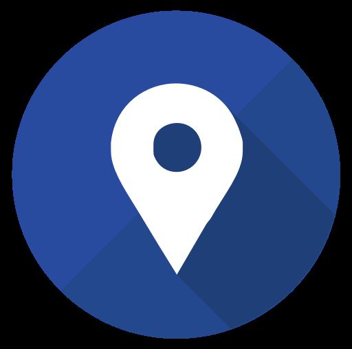 Intercircles social media interaction. Google pin png